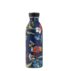 24Bottles Urban Drinking Bottle  0,5 L Denim Bouquet