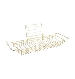 Presenttime Bath tub Caddy gold