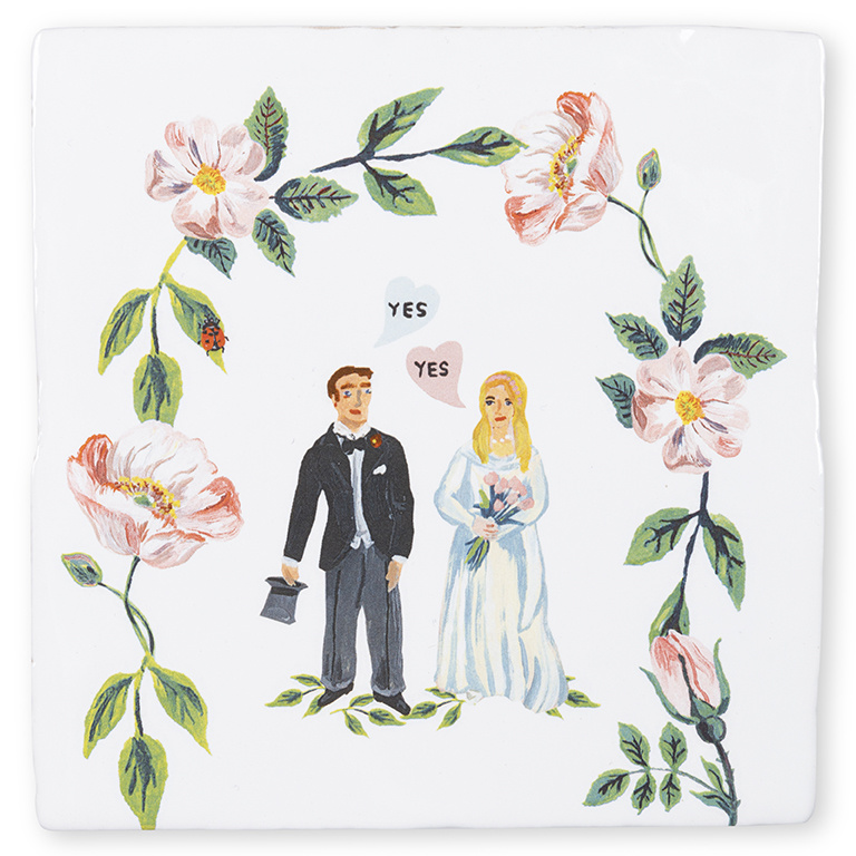 Storytiles Decorative Tile She Said Yes small