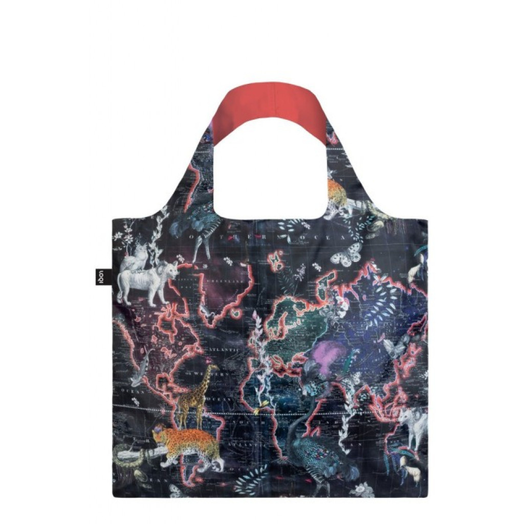 LOQI Foldable Shopper World Map
