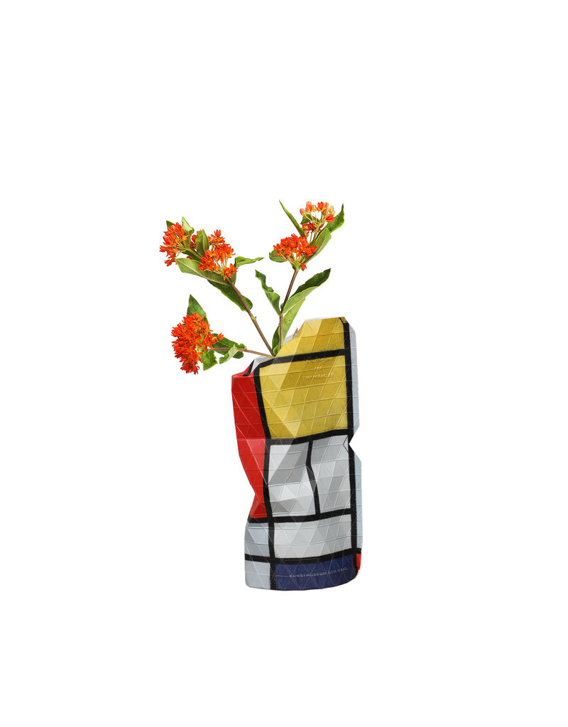 Pepe Heykoop Papier Vase Abdeckung  Composition Red Mondriaan small