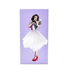 Luf Design Tissue Box Tissue UP Girl purple