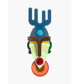 Studio Roof 3D Wanddekoration  Dakar Mask