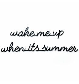 Goegezegd 3D Quote Wake me Up when it's Summer zwart