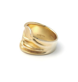 Riverstones Jewels Ring Free size 17 gold plated