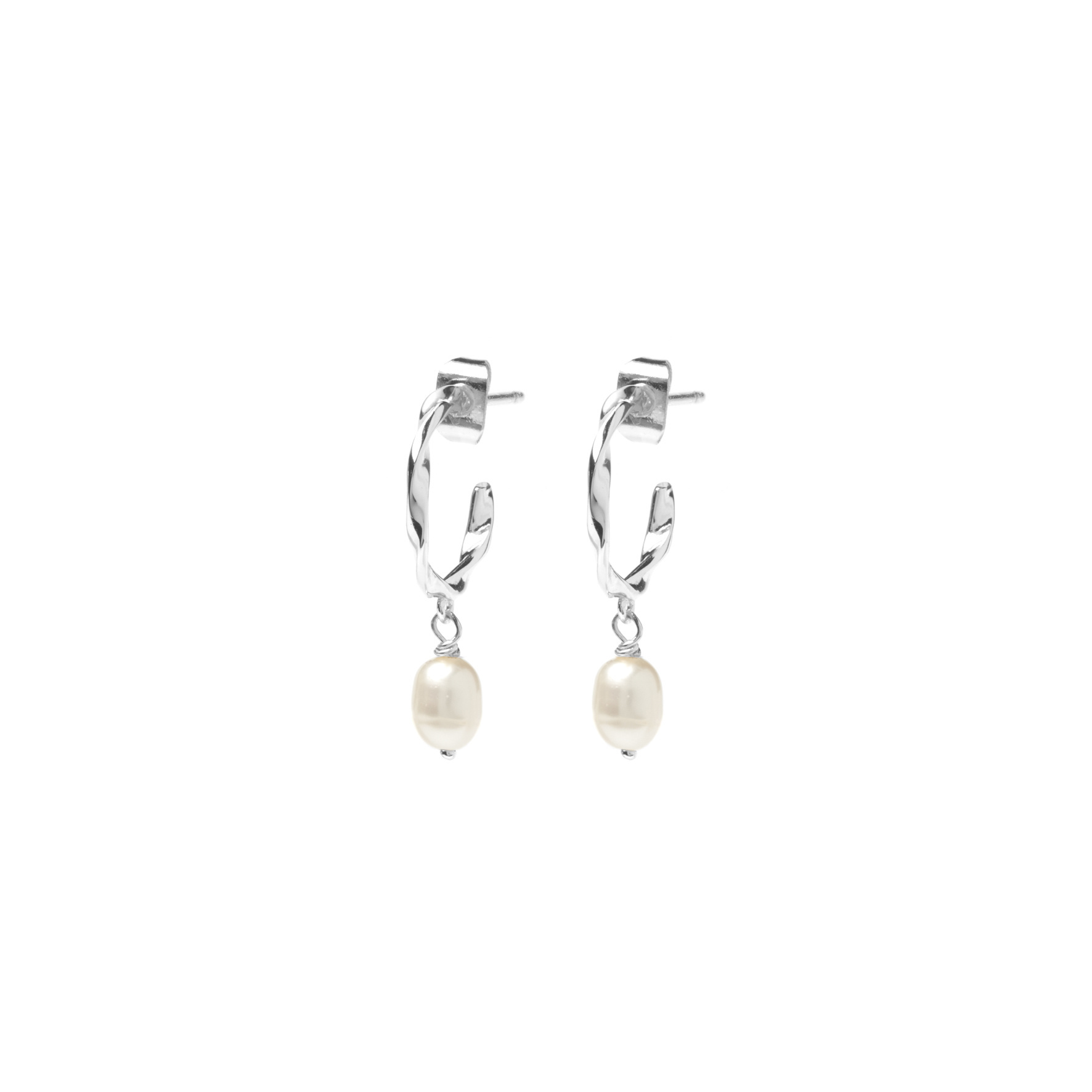 Riverstones Jewels Earrings Neptune Hoops silver plated