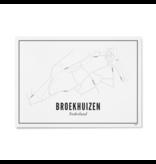 Wijck Poster Broekhuizen 21 x 30 cm