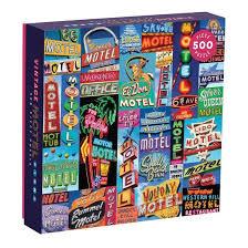 Galison Puzzel  Vintage Motel 500 stück