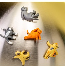 Kikkerland Magnets Yoga Cats