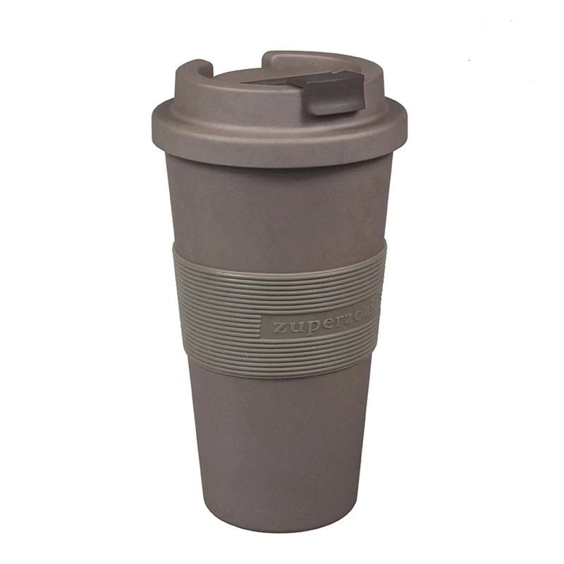 Zuperzozial Lockable Travel Mug Time-Out large Mocha brown
