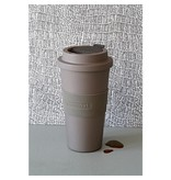 Zuperzozial Afsluitbare Reisbeker Time-Out large Mocha brown