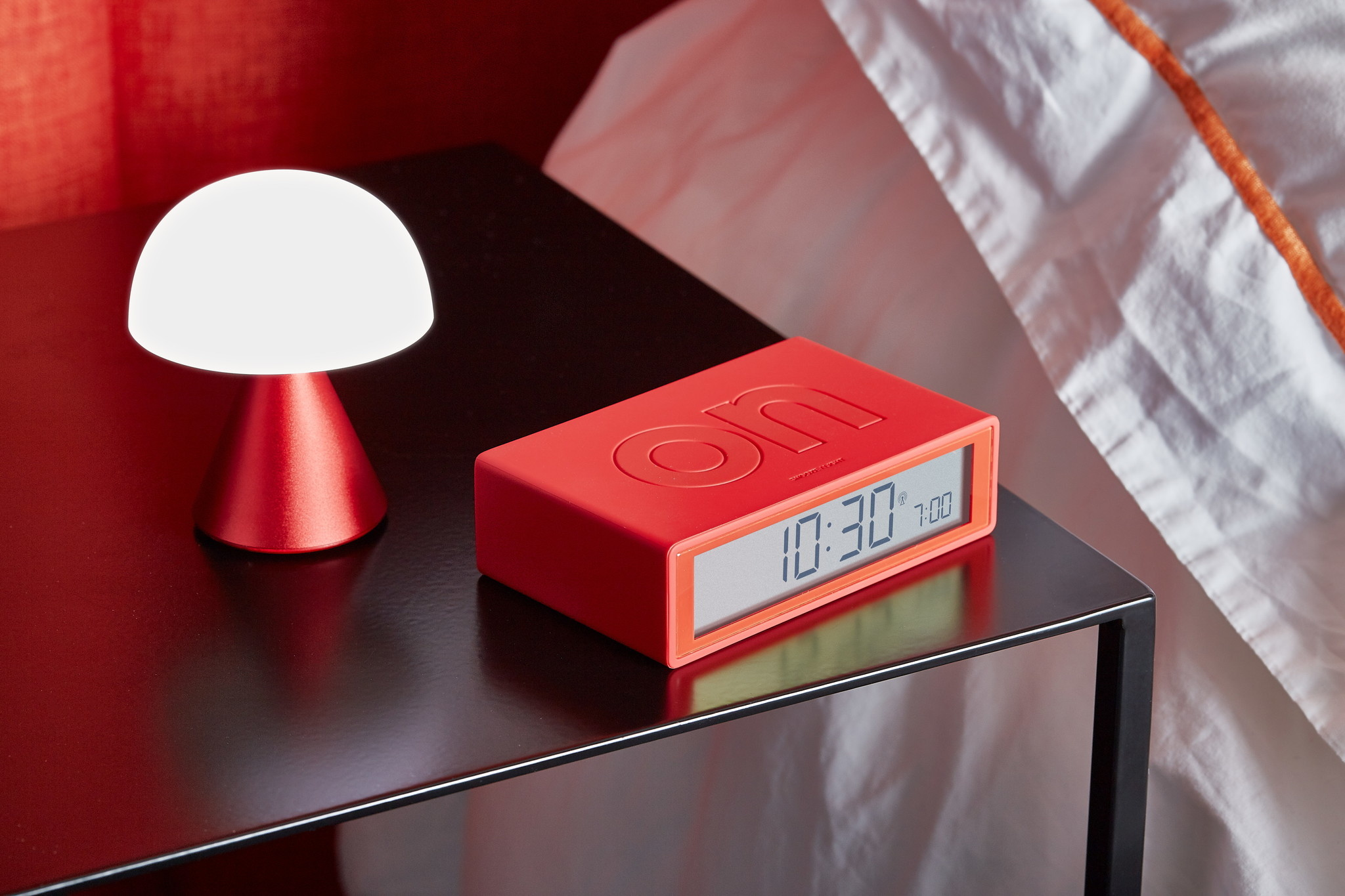 Lexon Wiederaufladbare  LED Lampe Mina rot