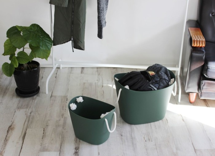 Hachiman Storage basket Balcolore medium dark green