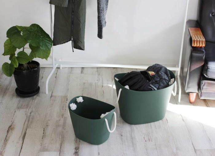 Hachiman Aufbewahrungskorb Balcolore klein dunkelgrün