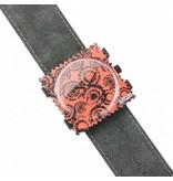 S.T.A.M.P.S Watchband Wild Leather dark grey