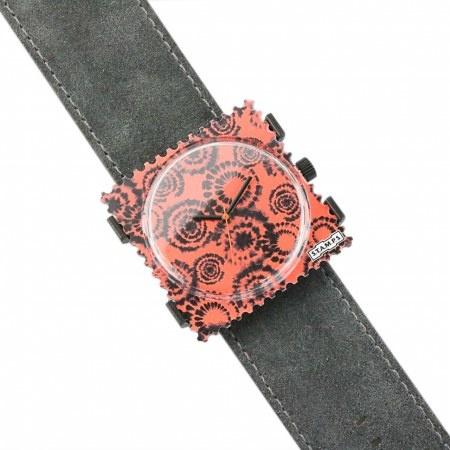 S.T.A.M.P.S Armband Wild Leather dark grey