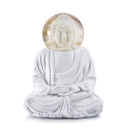 Donkey Products Glitter Globe The White Buddha