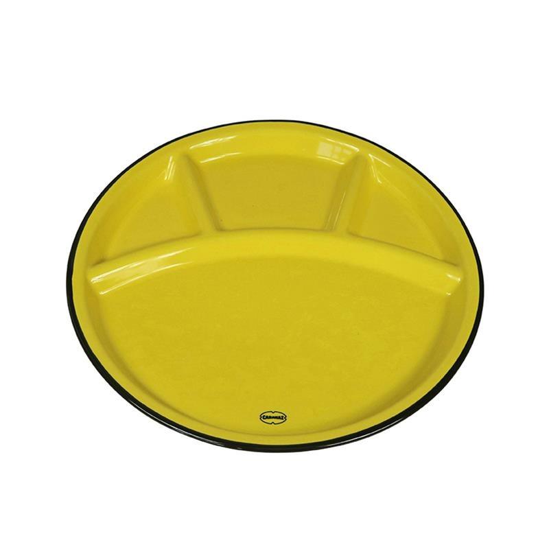 Cabanaz Fondue Bord geel
