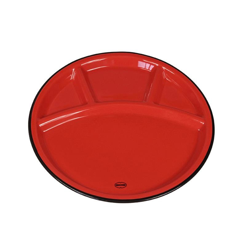 Cabanaz Fondue plate red