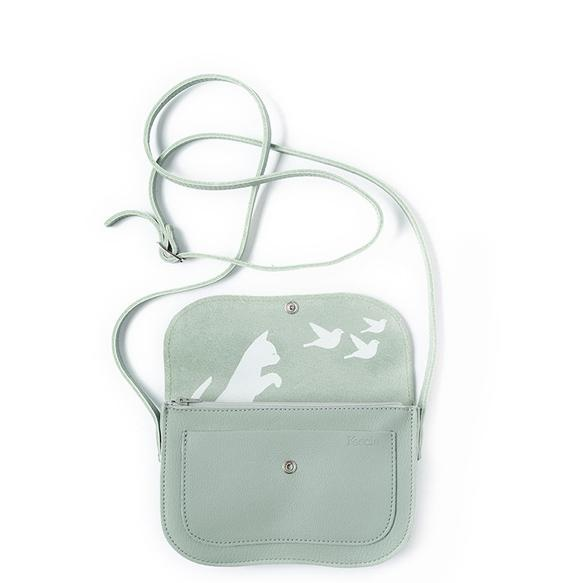 Keecie Leather Bag Cat Chase dusty green