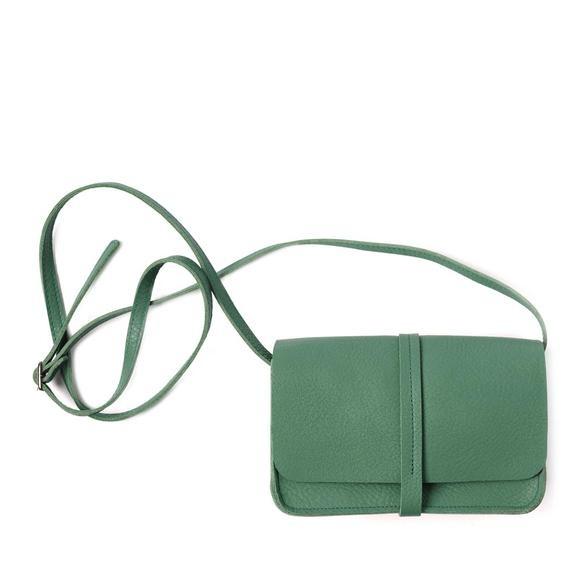 Keecie Leather Handbag Lunch Break forest