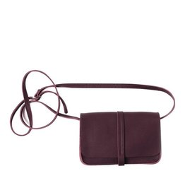 Keecie Leather Handbag Lunch Break aubergine