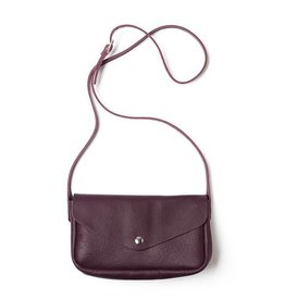 Keecie Leather Bag Humming Along aubergine