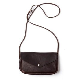 Keecie Leather Bag Humming Along dark brown used look