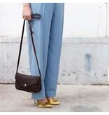 Keecie Leather Bag  Humming Along dark brown used look