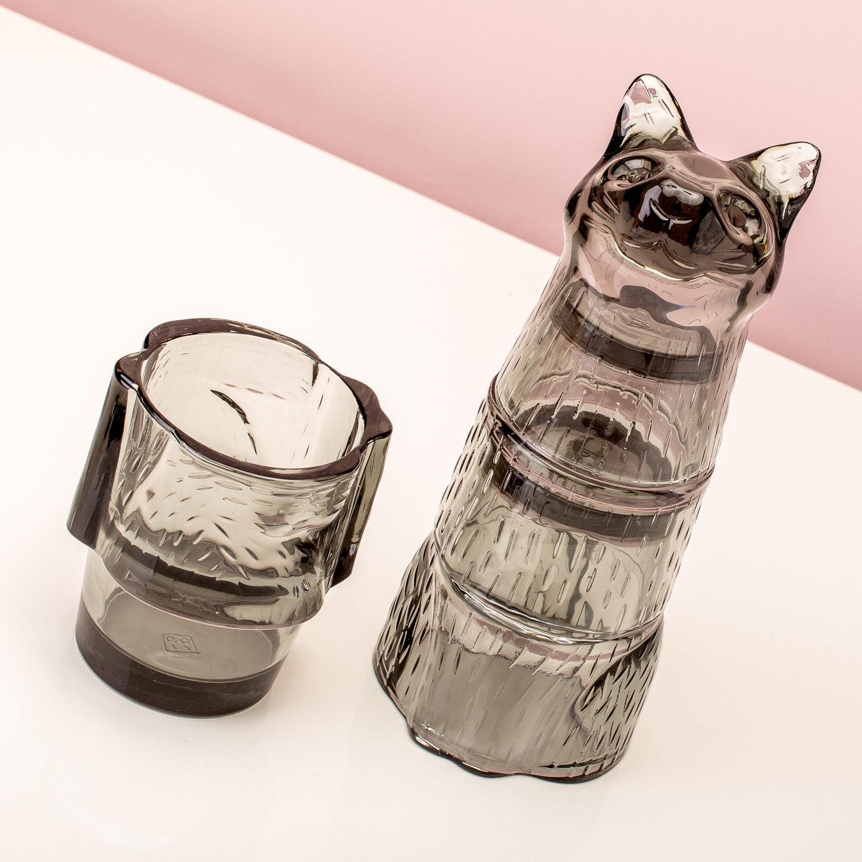 Doiy Glass set Kitty grey