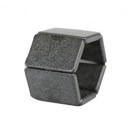 S.T.A.M.P.S Horlogeband Belta Tetra Black