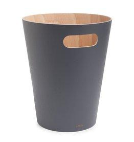 Umbra Prullenbak Woodrow natural charcoal