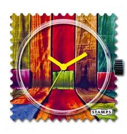 S.T.A.M.P.S Uhr Colorful Walls