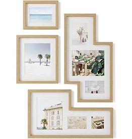 Umbra Mingle Gallery  Fotolijst Set van 4 Naturel