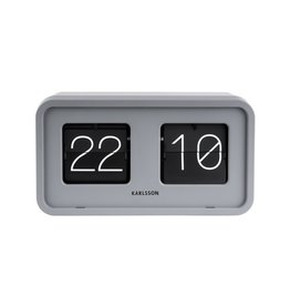 Karlsson Table/wall Clock Bold Flip grey