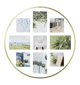 Umbra Bilderrahmen Collage Infinity Wall Float messing