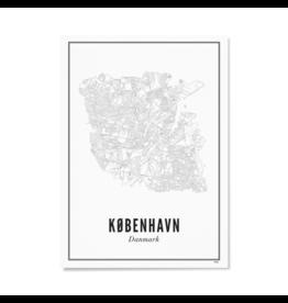 Wijck Poster Stadtplan Kopenhagen 30 x 40 cm
