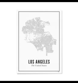 Wijck Poster Stadtplan Los Angeles 21 x 30 cm