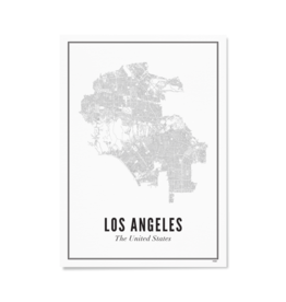 Wijck Poster City Map Los Angeles 30 x 40 cm