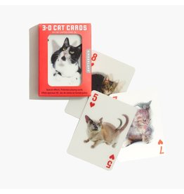 Kikkerland 3-D Playing Cards Cats