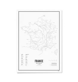 Wijck Poster Wijnstreken Frankrijk 30 x 40 cm