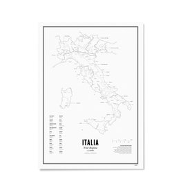 Wijck Plakatkarte Weinregionen Italien 30 x 40 cm