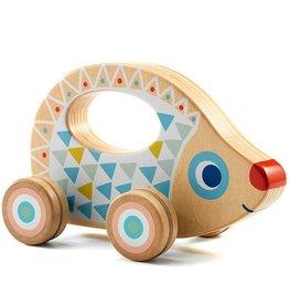 Djeco Wooden Push Along Toy BabyRouli