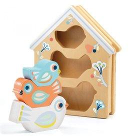 Djeco Wooden Sorting Box Babybirdy
