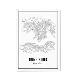 Wijck Poster Stadtplan Hong Kong 21 x 30 cm