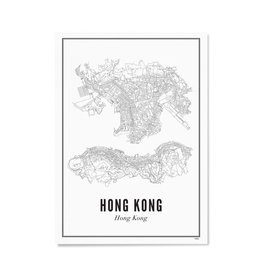 Wijck Poster City Map Hong Kong 30 x 40 cm