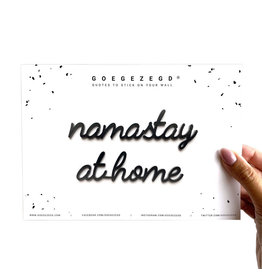 Goegezegd 3D Sticker Quote Namastay at Home black