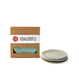 MooiDoorMij Cake Plates Mix Blue