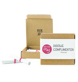 """MooiDoorMij Box with Compliments """"voor jou"""""""