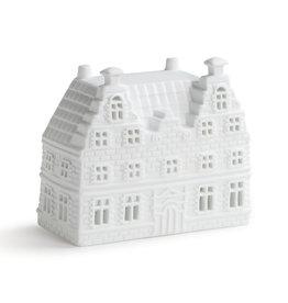 &Klevering Theelichthouder Grachtenhuis Trapgevel groot